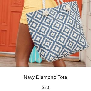 NWOT Summer and Rose Navy Diamond Tote
